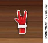 vector cartoon santa claus hand ... | Shutterstock .eps vector #727101652