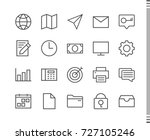 flat vector icons with a thin... | Shutterstock .eps vector #727105246