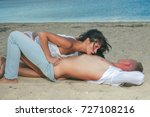 sexy lovers foreplay at luxury... | Shutterstock . vector #727108216