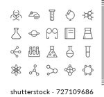 flat vector icons with a thin... | Shutterstock .eps vector #727109686