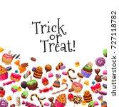 halloween sweets background... | Shutterstock .eps vector #727118782