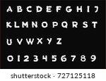 nightmare font   white...   Shutterstock .eps vector #727125118