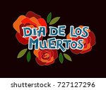vector illustration of dia de... | Shutterstock .eps vector #727127296
