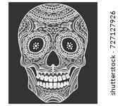 ornate sugar skull. calavera is ... | Shutterstock .eps vector #727127926