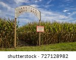 corn maze entrance wide shot | Shutterstock . vector #727128982