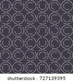 seamless pattern.white circles. | Shutterstock .eps vector #727139395