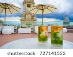 mojitos on rooftop of luxury... | Shutterstock . vector #727141522