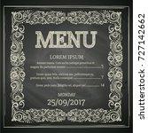 vintage menu design with... | Shutterstock .eps vector #727142662