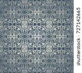 damask classic ornamental blue  ... | Shutterstock .eps vector #727142665