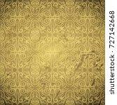 damask classic  golden brown... | Shutterstock .eps vector #727142668