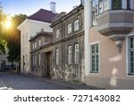 old houses on the old city... | Shutterstock . vector #727143082