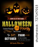 halloween party invitation with ... | Shutterstock .eps vector #727147015