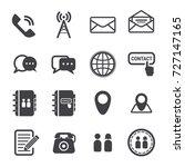 contact icon  contact vector... | Shutterstock .eps vector #727147165
