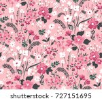 Stock vector trendy seamless floral pattern in vector 727151695