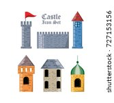 castle with tower design | Shutterstock .eps vector #727153156