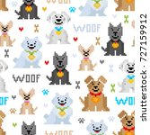 vector seamless pattern with... | Shutterstock .eps vector #727159912