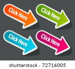 vector click here message on... | Shutterstock .eps vector #72716005