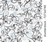 gray damask | Shutterstock .eps vector #72716740