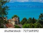 beautiful village neuvecelle... | Shutterstock . vector #727169392