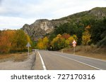 road of a village. autumn... | Shutterstock . vector #727170316