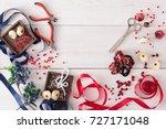 making jewelry  home workshop... | Shutterstock . vector #727171048