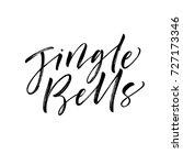jingle bells phrase. greeting... | Shutterstock .eps vector #727173346