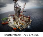 aerial view of offshore oil... | Shutterstock . vector #727175356