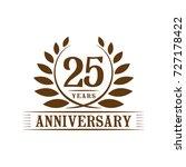 25 years anniversary logo... | Shutterstock .eps vector #727178422