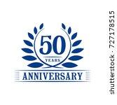 50 years anniversary logo...   Shutterstock .eps vector #727178515