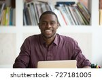 head shot portrait of smiling... | Shutterstock . vector #727181005