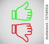 thumb icon up and down | Shutterstock .eps vector #727185316