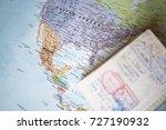 selective focus  a blurred... | Shutterstock . vector #727190932