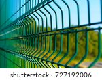 steel grating fence of soccer... | Shutterstock . vector #727192006