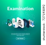 examination poster of isometric ... | Shutterstock .eps vector #727193092