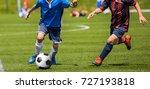 football soccer match for... | Shutterstock . vector #727193818