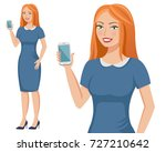 young attractive redhead... | Shutterstock .eps vector #727210642