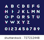 alphabet with numbers and... | Shutterstock .eps vector #727212448