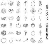 breakfast icons set. outline...   Shutterstock .eps vector #727224106