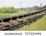 visible conveyor belt taken...   Shutterstock . vector #727224496