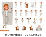 set of businesswoman character... | Shutterstock .eps vector #727224616