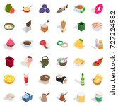 cookery icons set. isometric... | Shutterstock .eps vector #727224982