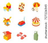 promenade icons set. cartoon... | Shutterstock .eps vector #727226545