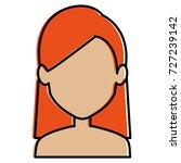 beautiful woman shirtless... | Shutterstock .eps vector #727239142