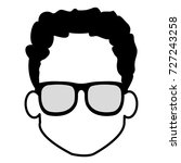 young man head with glasses... | Shutterstock .eps vector #727243258