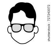 young man head with glasses... | Shutterstock .eps vector #727243372