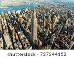 aerial view of the skyscrapers... | Shutterstock . vector #727244152