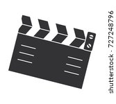 clapperboard cinema isolated... | Shutterstock .eps vector #727248796