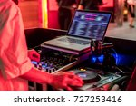 disc jockey in party | Shutterstock . vector #727253416