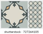 arabic patter style tiles for... | Shutterstock .eps vector #727264105