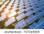 top view of solar panels  solar ... | Shutterstock . vector #727265005